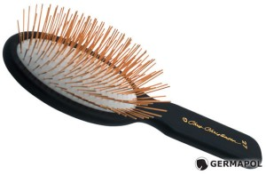Chris Christensen - Gold Series, Oval Gold Pin Brush - owalna szczotka, piny - 27 mm