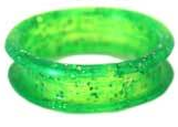 Chris Christensen - Bright Green Sparkle - wymienne ringi z brokatem, 25 mm - 2 szt.